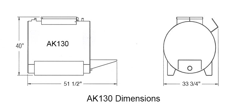 AK1 Gladiator Sealcoating Sprayer Dimensions