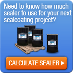 Calculate how much blacktop sealer you need