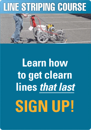 Sign up for our line striping course