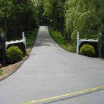 Customer sealcoated driveway with our systems