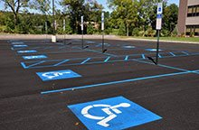 Stencils for painting handicap spots