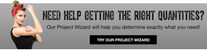 Get the quantities for your project with our wizard