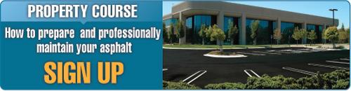 Sign up for the Asphalt Property Maintenance Course